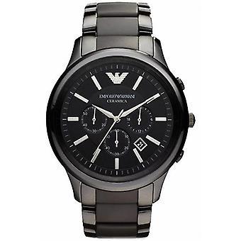 Emporio Armani Ar1451 orologio da polso nero ceramica cronografo da uomo