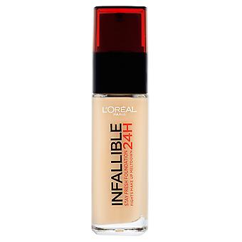2 x L'Oreal Paris 24H Infallible Stay Fresh Foundation 30ml - Choose Your Shade