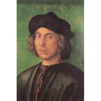 Portrait of a young man,Albrecht Durer,46x35cm