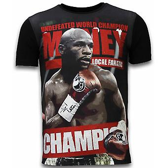 Money Champion-Digital Rhinestone T-shirt-Black