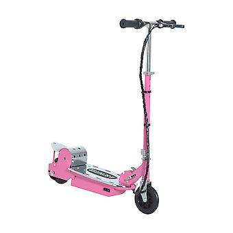 HOMCOM Kids E Scooter Ride on Folding Electric Bike Children Sports Toy Height Adjustable w/ Rechargeable Battery 12V (Pink)