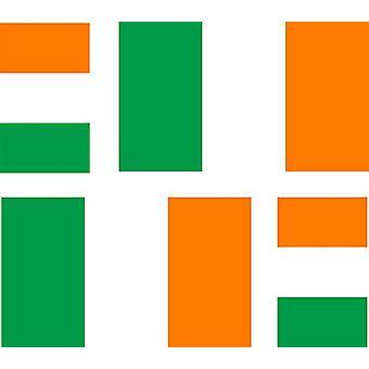 4 X Autocollant Sticker Voiture Moto Valise Pc Portable Drapeau Irlande Irlandai