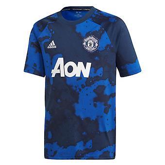 2019-2020 Man Utd Adidas Pre-Match Training Shirt (Mystery Ink) - Kids