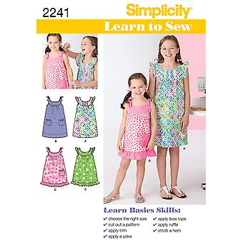 Simplicity Child Girl Dresses 3 4 5 6 U02241hh