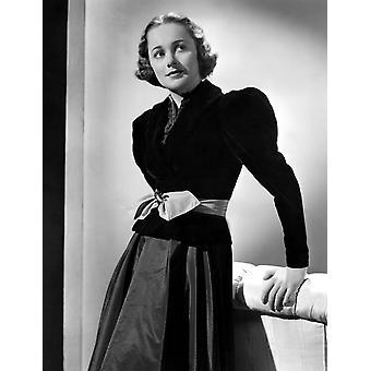 Olivia De Havilland In schwarzem Samt Jacke 1937 Fotoabzüge