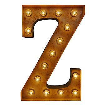 Large Vintage Letter Lights - Z