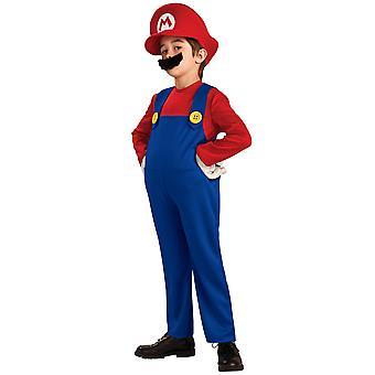 Супер Марио Делюкс Bros видео игры водопроводчик 80-х годов мультфильм мальчиков костюм