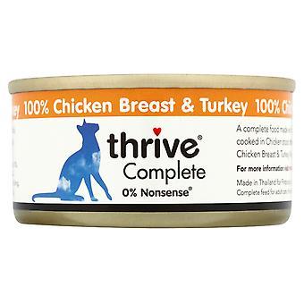 Trives komplet Adult kyllingebryst & Tyrkiet 75g (pakke med 12)