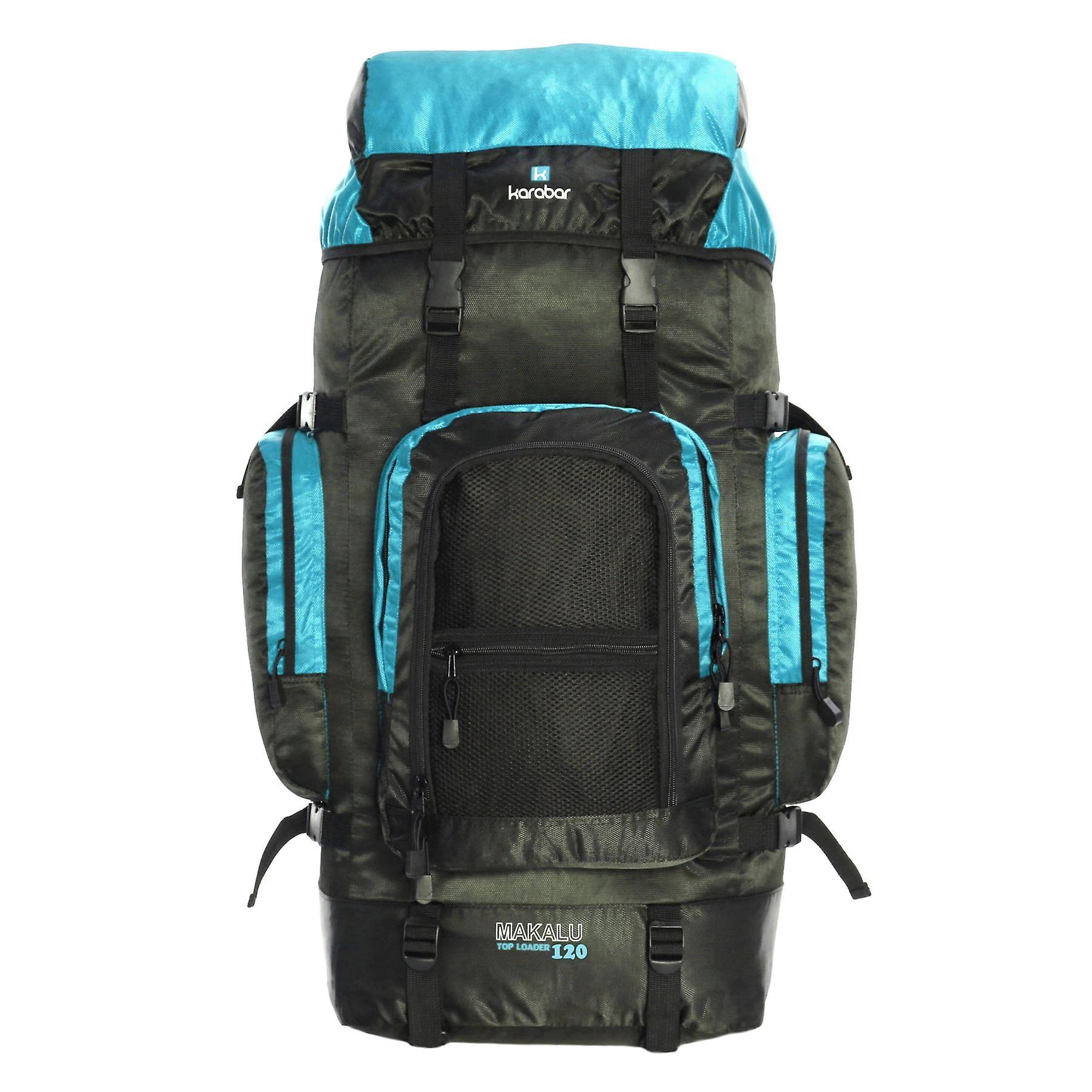 Karabar Makalu 120 Litres Travel Backpack, Black/Sky Blue