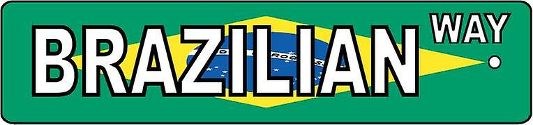 Brazilian Way Street Sign Car Air Freshener