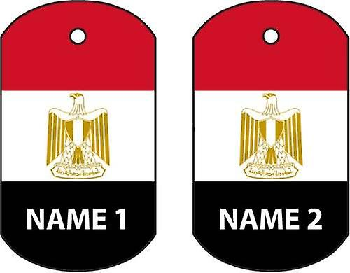 Personalised Egypt Dog Tag Car Air Freshener