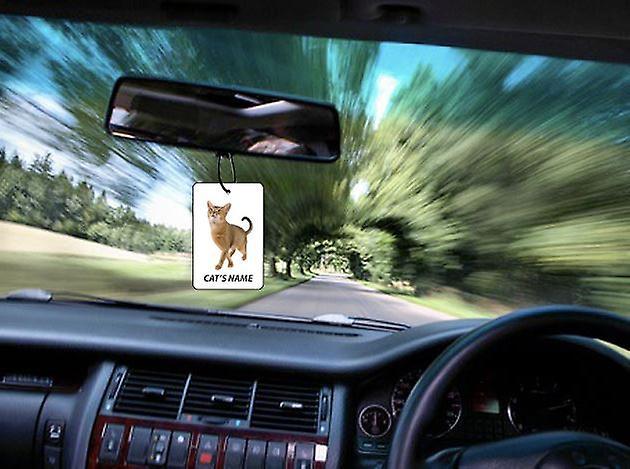 Refraîchissant d'Air de voiture personnalisé chat Abyssin