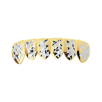Gold Grillz - one size fits all - Diamond Cut II - bottom