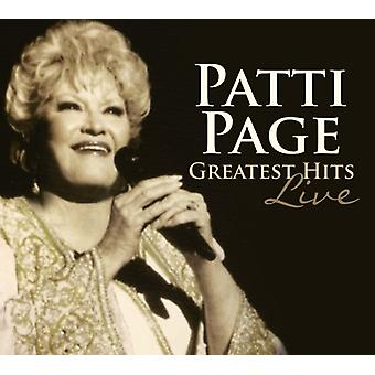 Patti Page - importación de Estados Unidos Greatest Hits Live [CD]