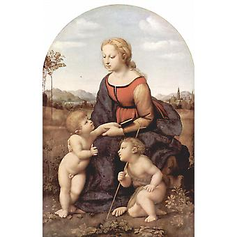 Raphael - Sitting with Cherubs Poster Print Giclee