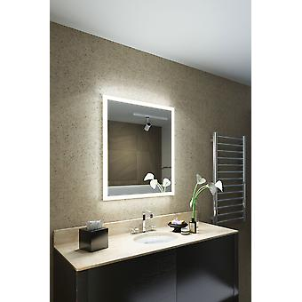 Myna Shaver Edge LED Bathroom Mirror with Demister & sensor k1417i
