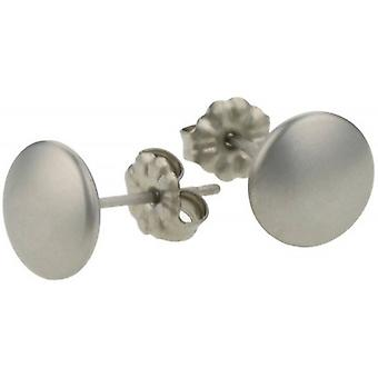 Ti2 Titanium Smartie Stud Earrings - Natural Satin