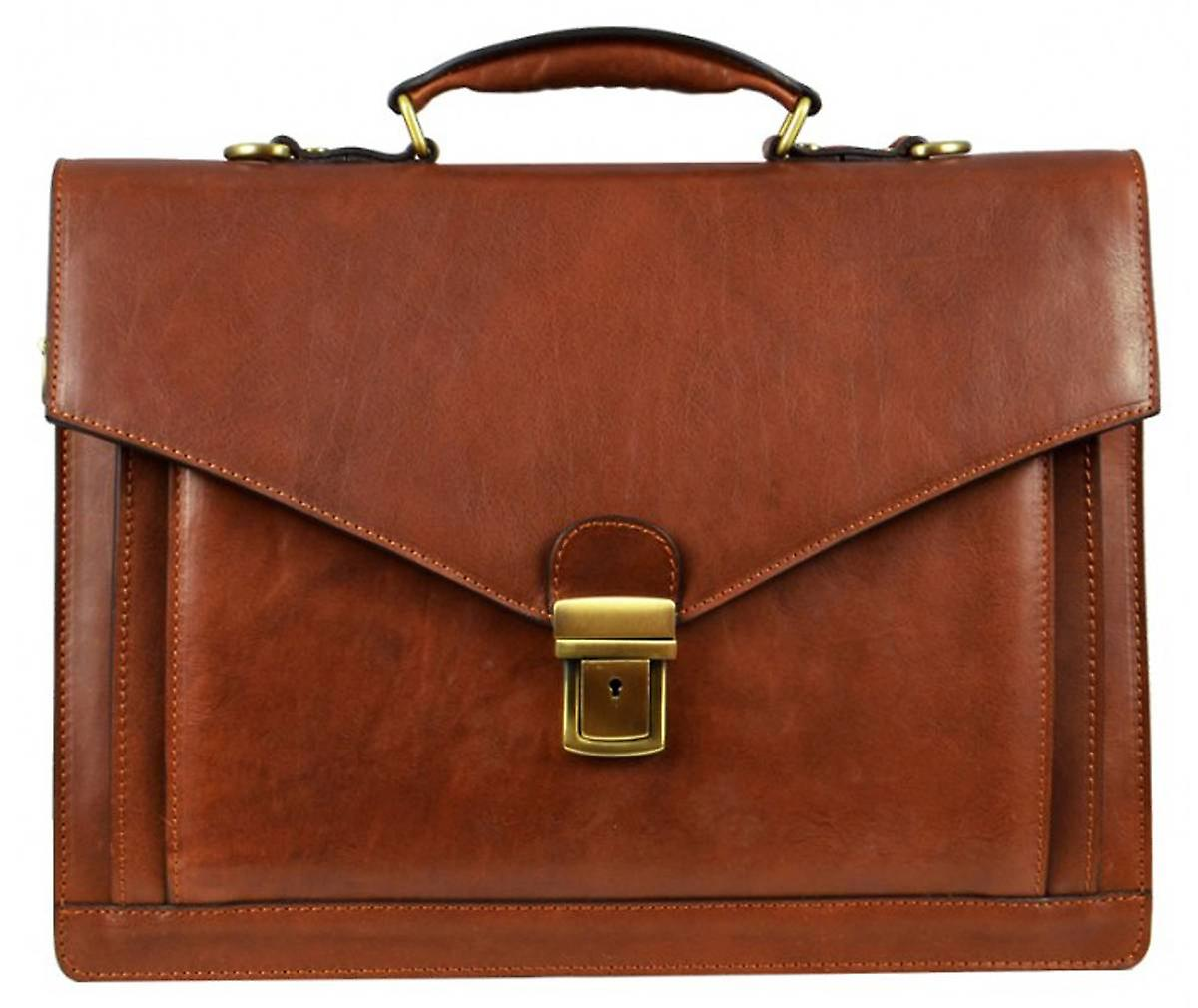 Time Resistance Magus Briefcase - Brown