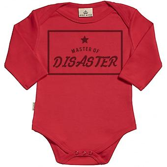 Spoilt Rotten Master Of Disaster Long Sleeve Organic Baby Grow