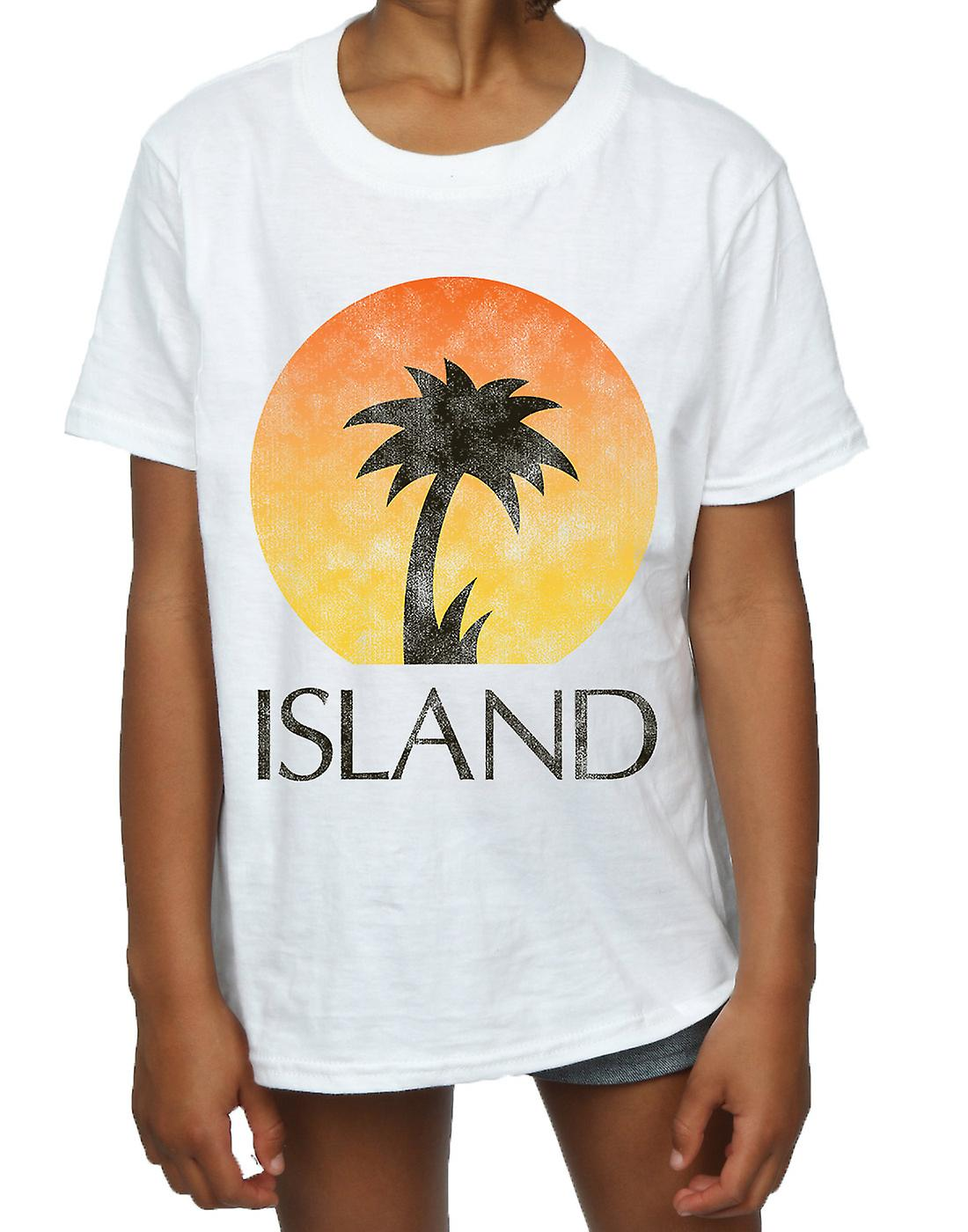 Island Records Girls Distressed Logo T-Shirt