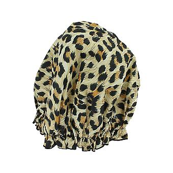 Hydrea Eco-Friendly PEVA Shower Cap Leopard Print