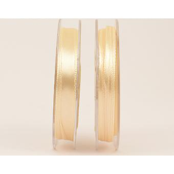 10mm Polyester Satin Craft Ribbon - 10m Reel - Beige Ivory