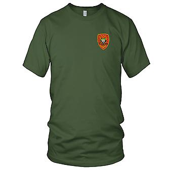 US Army MACV-SOG Red Insignia - Military Assistance Command Vietnam War Embroidered Patch - Mens T Shirt