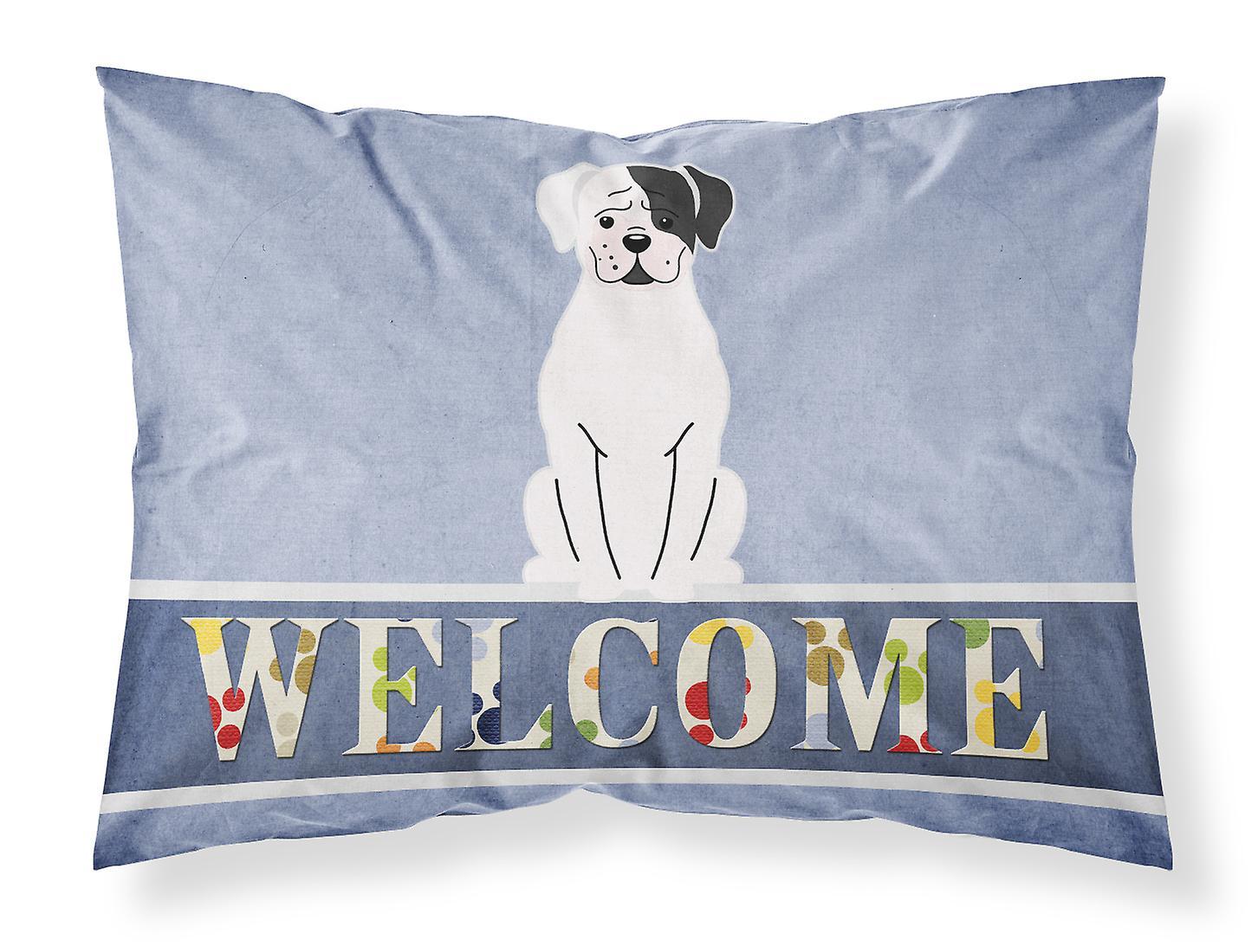 D'oreiller Standard De Cooper Bienvenue Boxer Taie Tissu Blanc n8wNm0