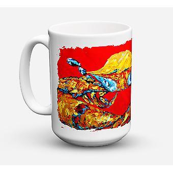 Crab Fat and Sassy Dishwasher Safe Microwavable Ceramic Coffee Mug 15 ounce