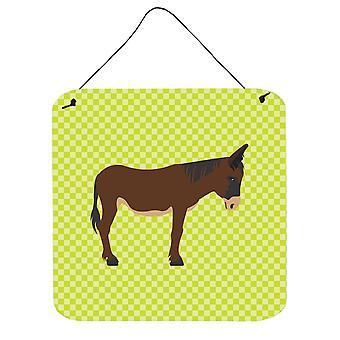 Zamorano-Leones Donkey Green Wall or Door Hanging Prints