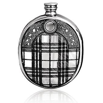 Oval Tartan Sporran Design 6oz Hip Flask (TSF620 EP)
