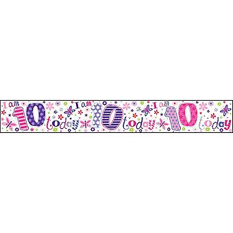 Simon Elvin I Am 10 Today Holographic Foil Banner