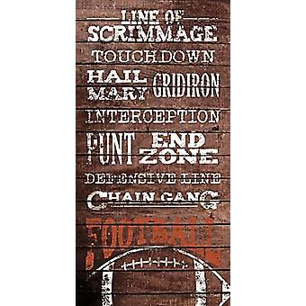 Football Poster Print by Susan Ball (9 x 18)