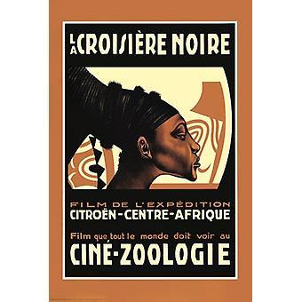 Cruise - La Croisiere Noire Poster Poster Print zwart