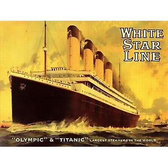 Olympic and Titanic Poster Print (32 x 24)