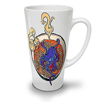 Ośmiornica Noodle Soup Nowa Biała herbata kawa Latte ceramiczny kubek 17 oz | Wellcoda