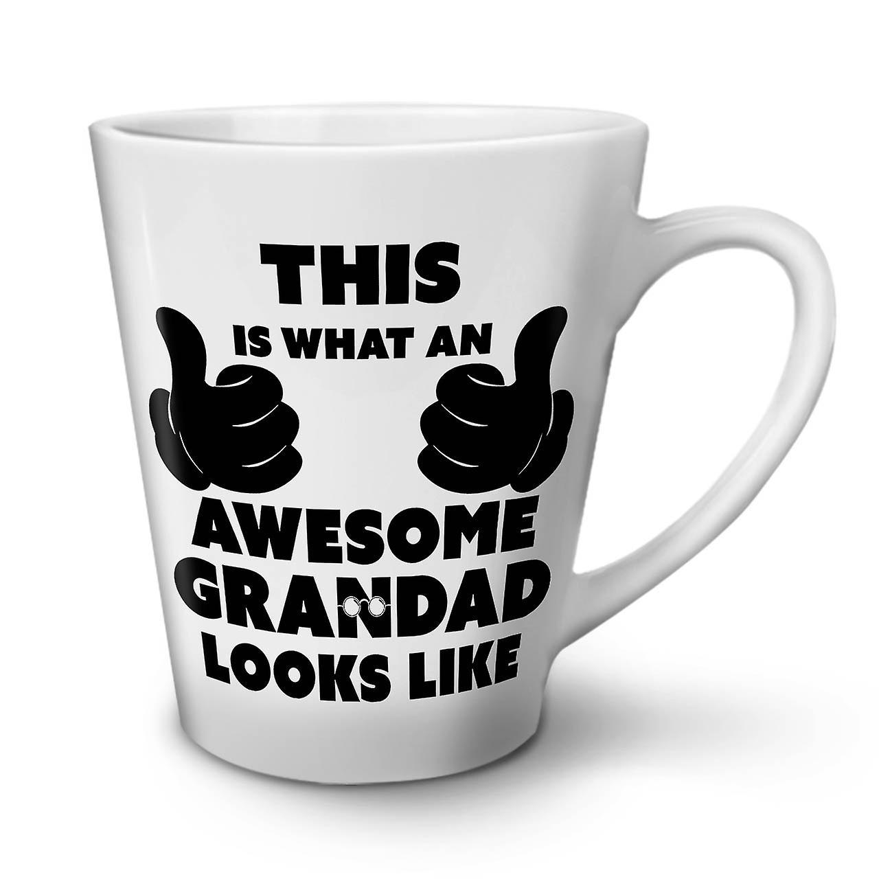 Drôle Nouveau Mug En Blanc OzWellcoda Thé Café Latte Super Papi Céramique 12 0knPwN8OXZ