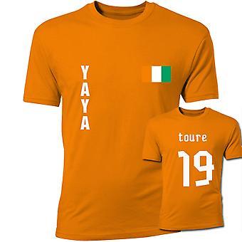 Yaya Toure Elfenbenskysten flagg T-Shirt (oransje)