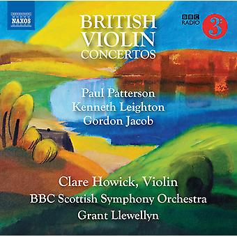 Jacob / Howick / Llewellyn - British Violin Concertos [CD] USA import