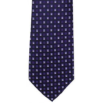 Michelsons of London Neat Diamond Polyester Tie - Lilac/Purple