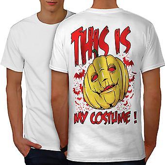 Halloween disfraz Horror WhiteT-camisa de los hombres hacia atrás | Wellcoda