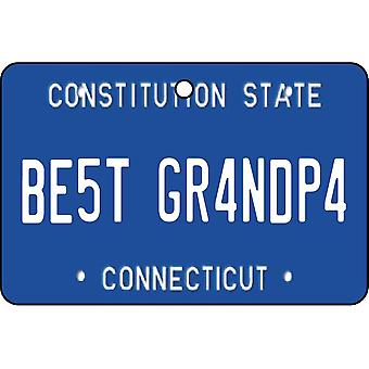 Connecticut - Best Grandpa License Plate Car Air Freshener
