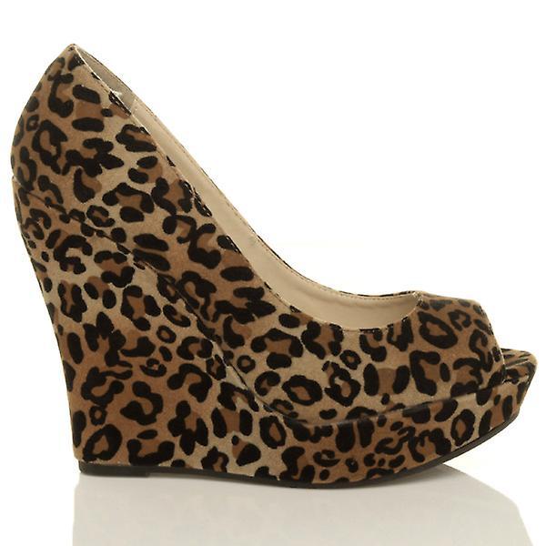 Ajvani court party pumps heel peep shoes high platform womens wedge toe prSpa1q