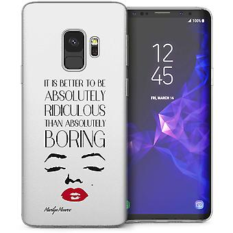 Samsung Галактика S9 Мэрилин Монро абсолютно цитата гель ТПУ – белый
