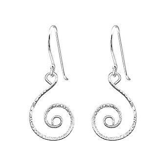 Spiral - 925 Sterling Silver Plain Earrings