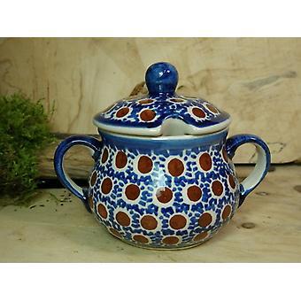 Sugar Bowl, height 10 cm, diameter 12 cm, tradition 51 polish pottery - BSN 22014