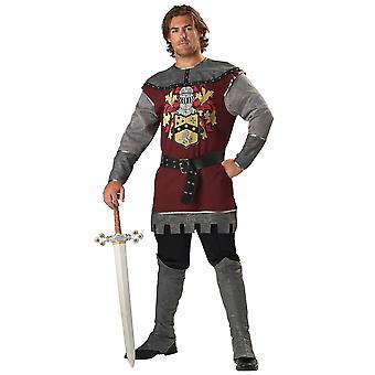 Ædle ridder renæssance middelalderlige mænd kostume