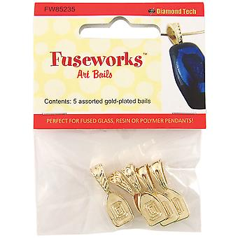 Fuseworks Art Bails 5Pc Gold Fw85235
