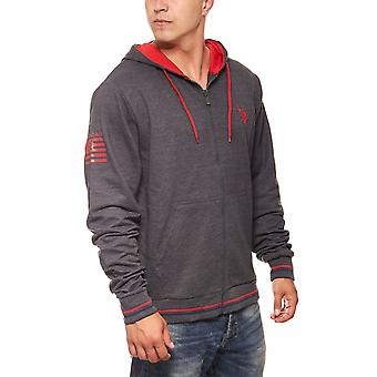 U.S. POLO ASSN. Hooded Sweatshirt Hoodie jacket with hood grey