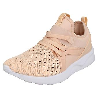 Ladies Reflex Lace Up Trainers F7099 - Pink Textile - UK Size 8 - EU Size 41 - US Size 10